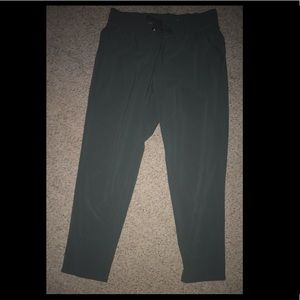 Olive green Xersion linen pants with drawstring